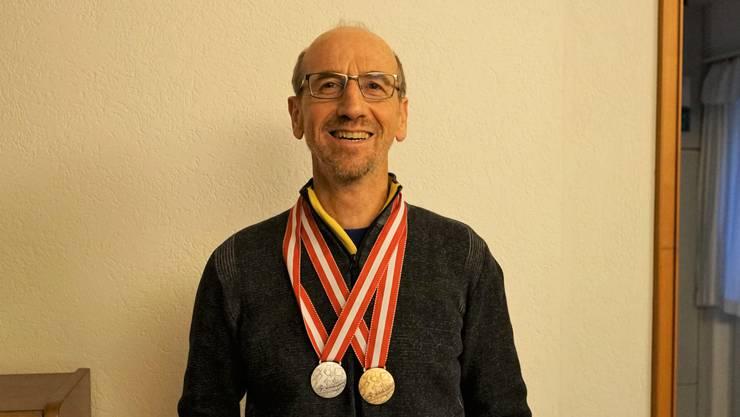 Alois Achermann gewann in Seefeld Bronze und Silber.