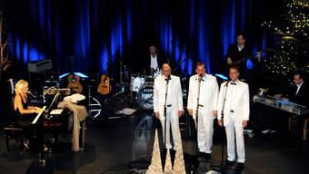 Die Bündner Formation mit Sängerin und Entertainerin Marie Louise Werth wussten das Grenchner Publikum zu begeistern.  khg