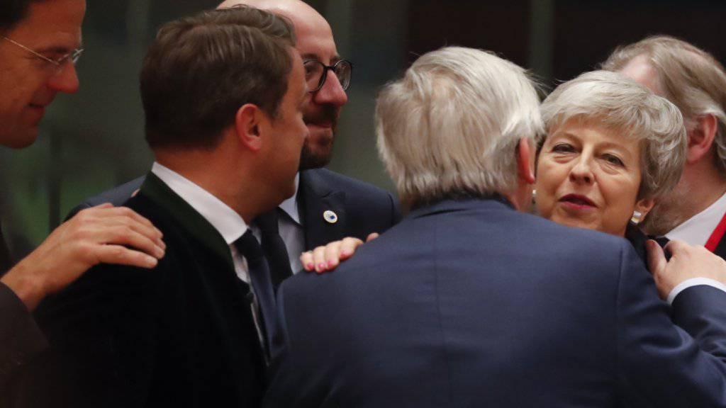 Die britische Premierministerin Theresa May konnte am Donnerstagabend in Brüssel einen Aufschub beim Brexit erwirken.