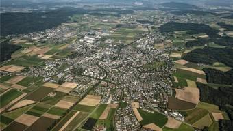 Die Gemeinde Wohlen von Oben. Archiv