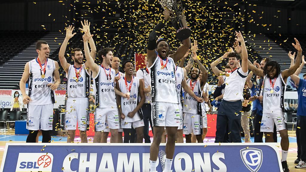 Champion in der Schweiz, aber nicht in der europäischen Champions League: die Basketballer von Fribourg Olympic