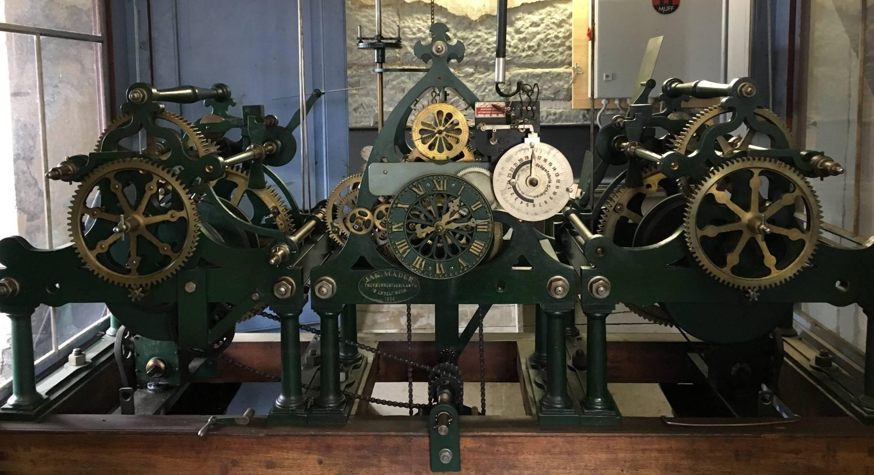 So sieht das 123 Jahre alte Uhrwerk aus. (Bild: Stadt St.Gallen)