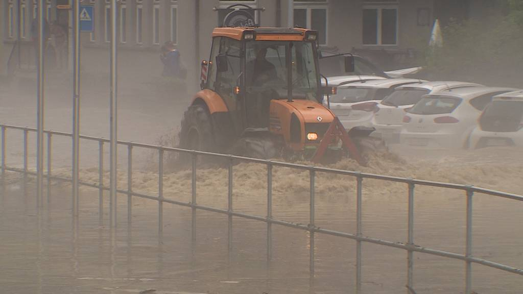 Unwetter im Kanton Luzern: Über 210 Notrufe in drei Stunden