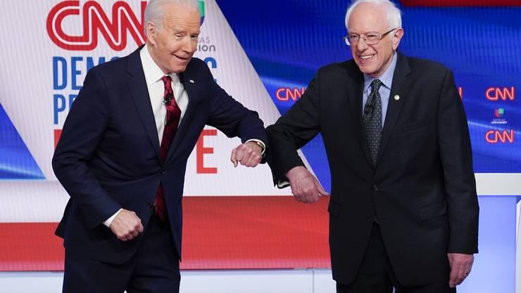 Wer wird's? Ex-Vizepräsident Joe Biden und US-Senator wollen beide ins Weisse Haus.