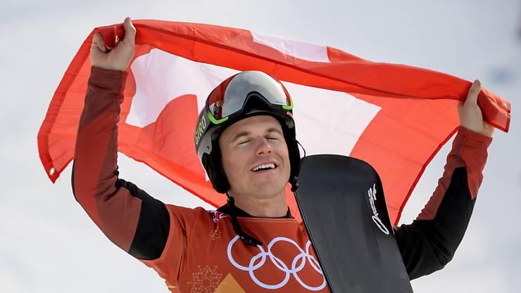 Nevin Galmarini ist am Ziel seiner Träume und gewinnt erstmals eine olympische Goldmedaille