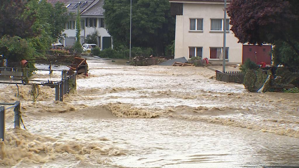 Überschwemmte Strassen, Keller und vermisste Haustiere: Über 60 Unwettermeldungen im Kanton Schaffhausen