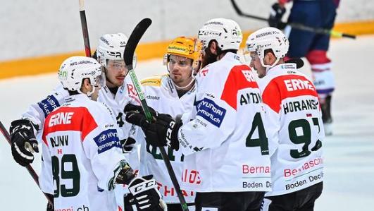 Der EHC Olten besiegt die Ticino Rockets mit knappem 2:1