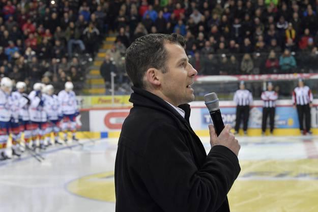 Martin Plüss verabschiedete sich 2017 von den Fans im Spiel gegen die ZSC Lions.