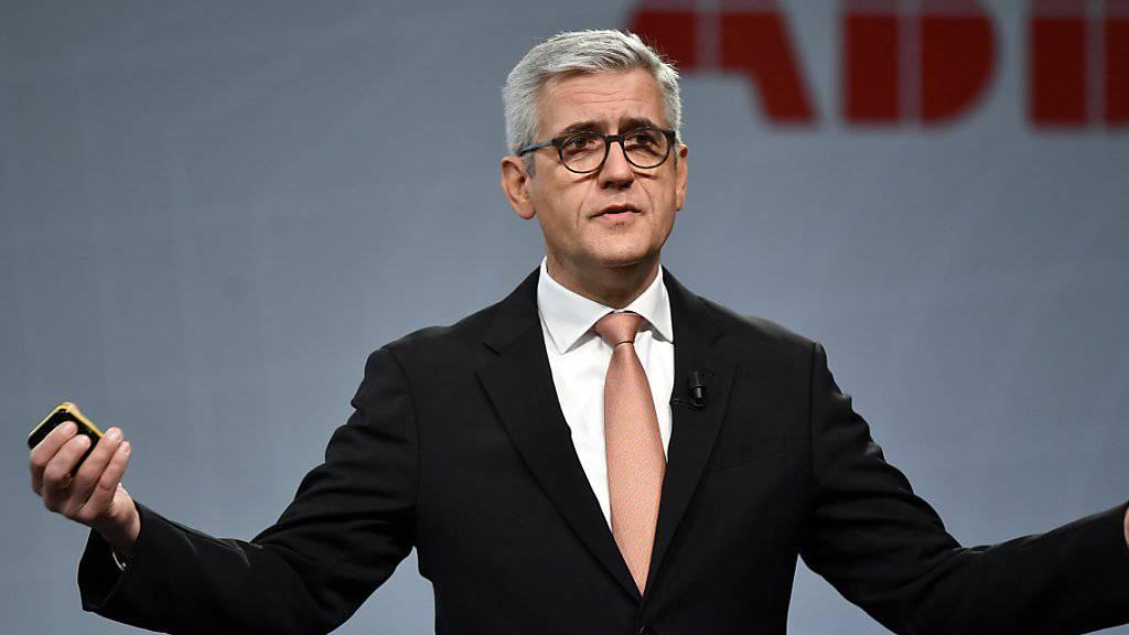 2017 ist laut ABB-Konzernchef Ulrich Spiesshofer ein Übergangsjahr.