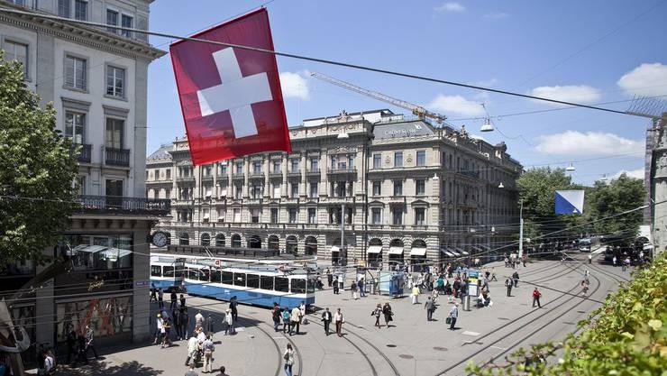 Das historische Bankgebäude der Credit Suisse am Zürcher Paradeplatz.