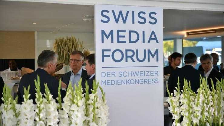 Das nächste Swiss Media Forum findet am 7. und 8. Mai 2020 statt. (Archivbild vom Anlass 2018)