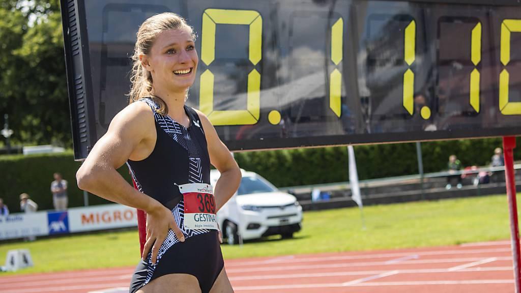 Ajla Del Ponte mit 11,10 zweitbeste Schweizer 100-m-Sprinterin