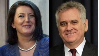 Haben sich erstmals getroffen: Serbiens Präsident Tomislav Nikolic und seiner Amtskollegin Atifete Jahjaga aus dem Kosovo.
