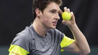 Der Churer Jakub Paul vergibt in Gstaad in der entscheidenden Qualifikationsrunde acht Matchbälle, einen bei eigenem Aufschlag.