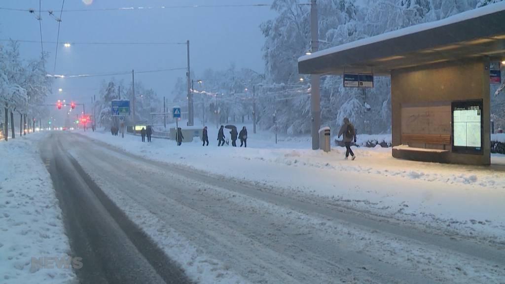Die Ostschweiz versinkt im Schnee, im Kanton Bern bleibt es lange noch grün
