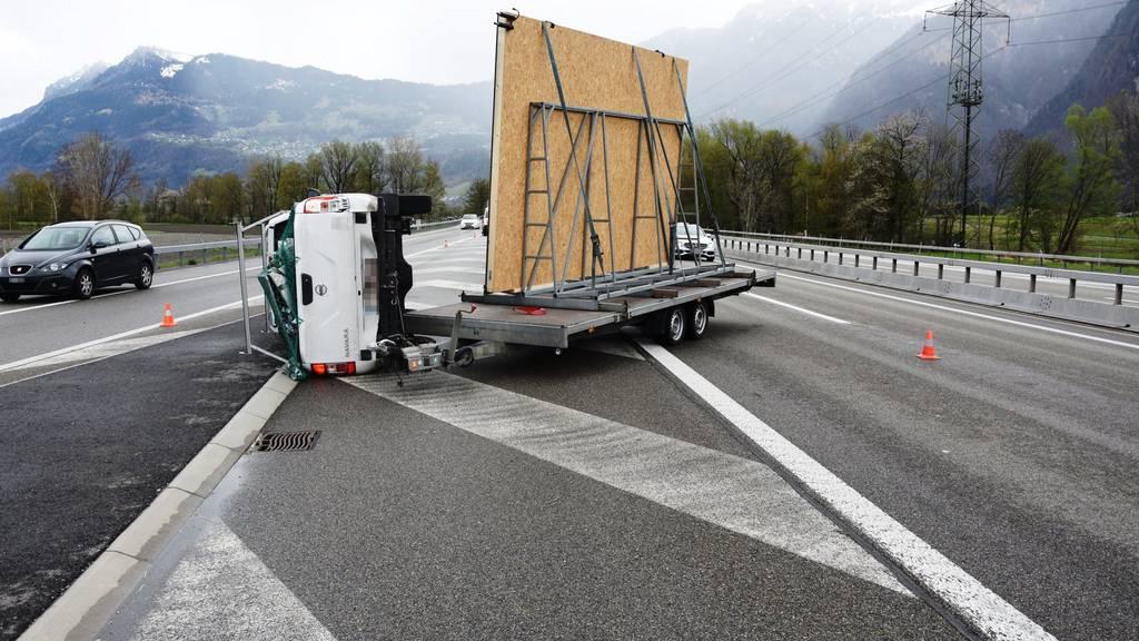 Unfall bei Trübbach blockierte Spur