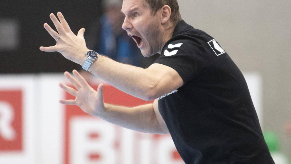 Kadetten-Coach Petr Hrachovec versucht sich als stimmgewaltiger Motivator