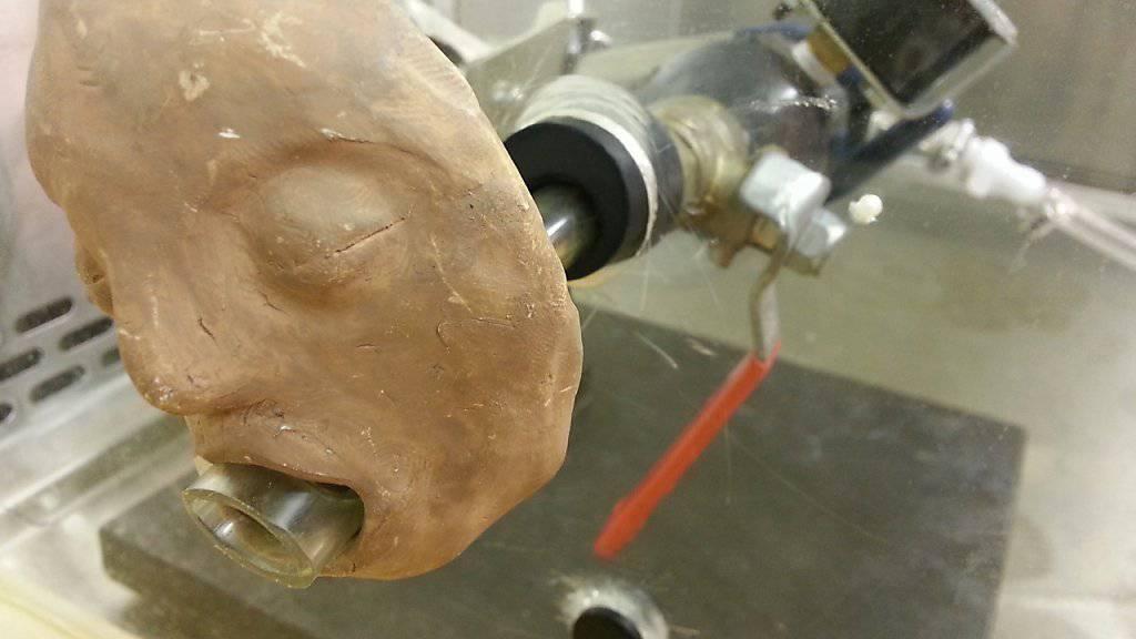 Mr. Vomit: Mit Hilfe des «Kotz-Simulators» erkunden US-Forscher das Ansteckungspotenzial von Noroviren. (Foto: Handout)