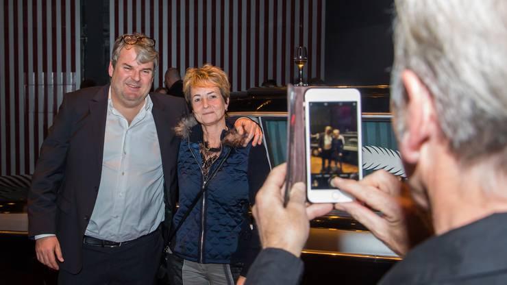 Ein Selfie mit Mike Müller alias Luc Conrad.