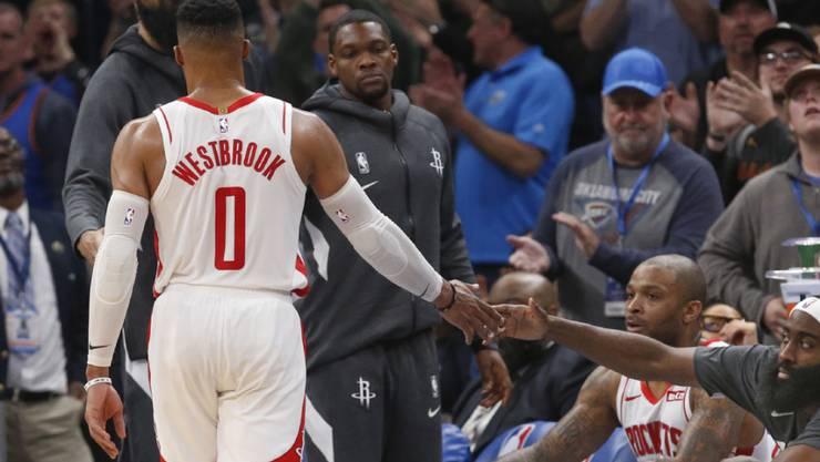 Russell Westbrook erhielt in Oklahoma viel Zuspruch, konnte die Niederlage der Rockets allerdings nicht verhindern