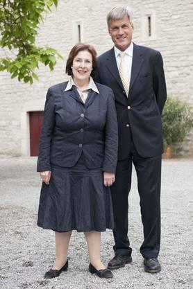 FDP-Ständerätin Christine Egerszegy mit AKB-Chef Ruedi Dällenbach