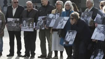 Demo ehemaliger Verdingkinder und Opfer fürsorgerischer Massnahmen