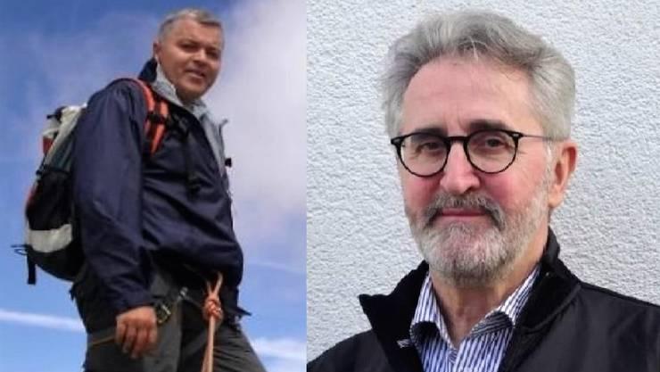 Roland Ulmer (links) und Lothar Eckert kandidieren für den freien Sitz im Gemeinderat Habsburg.