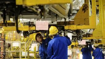 Die Erzeugerpreise in China stagnieren - die Verbraucherpreise stiegen. (Archiv)
