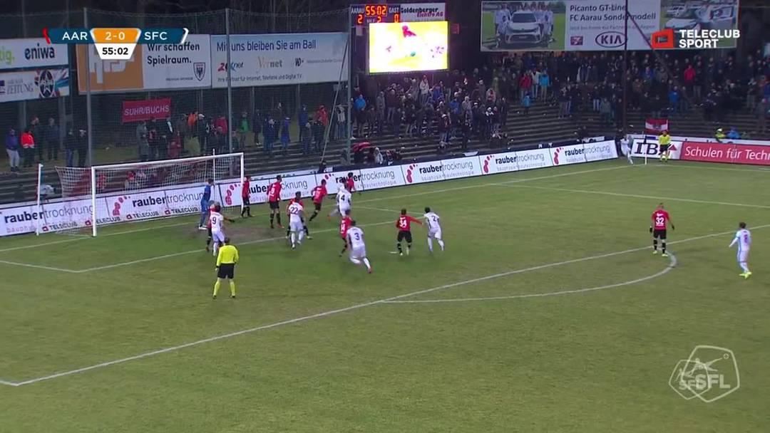 Challenge League 18/19 Runde 23: FC Aarau - Servette FC 1.3.19 - 2:1 FC Servette