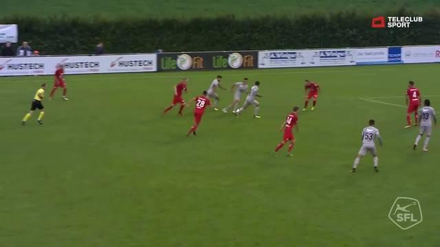 Challenge League, 2018/19, 6 . Runde, FC Rapperswil Jona – FC Aarau, Lattenschuss Mickael Almeida