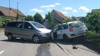Frontaler Verkehrsunfall in Brislach.