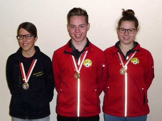 U21:  Tamara Späti, Tim Kaufmann und Tina Kaufmann