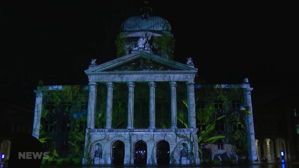 Lichtshow mit Schutzmassnahmen: So verlief die Premiere des Rendez-Vous Bundesplatz
