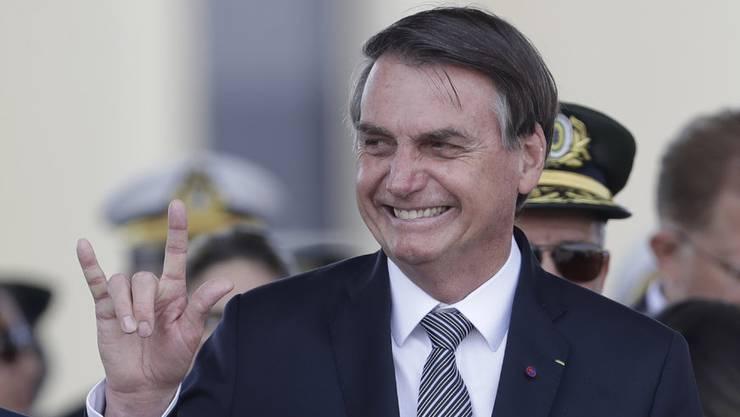 Jair Bolsonaro findet's lustig.