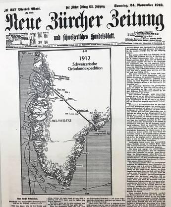 Die «NZZ» finanzierte einen Drittel der Expedition und erhielt dafür die Exklusivrechte an der Abenteuergeschichte übers Inlandeis.