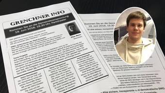 In einem Flugblatt erhebt Pro-Grenchen-Präsident Elias Meier massive Vorwürfe gegen die SWG.