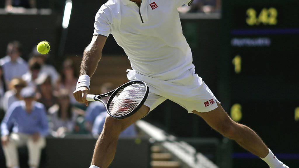 Federer zieht ohne zu glänzen in die 3. Runde ein