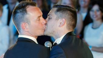 Abstimmungsplakate in Irland für und gegen die gleichgeschlechtliche Ehe. 3,2 Millionen Iren sind am Freitag aufgerufen, über die Verfassungsänderung zu entscheiden.