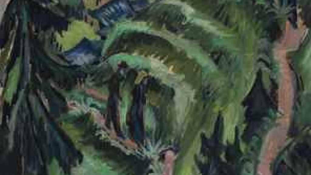 """""""Stafelalp mit Amselfluh"""" von Ernst Ludwig Kirchner."""