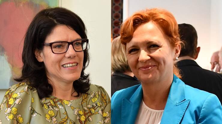 Barbara Horlacher (links), Stadtammann Brugg und Angela Lunginovic, Gemeindeammann Schinznach-Bad