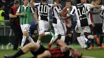 Das Bild des Cupfinals in Italien: Juventus feiert, Milan am Boden