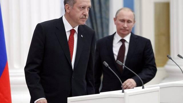 Der türkische Premier Recep Tayyip Erdogan (l) und Russlands Präsident Wladimir Putin