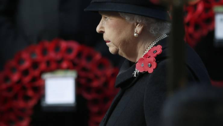 Die Queen an der Gedenkveranstaltung für die Toten der beiden Weltkriege.