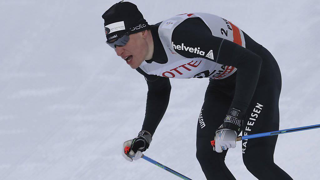 Livio Bieler testet in Pyeongchang die Olympia-Strecke.