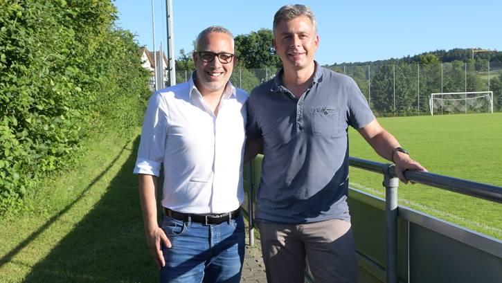 Der scheidende Urdorf-Trainer Gianni Musumeci (links) und Präsident René Janz verbindet mittlerweile eine tiefe Freundschaft.
