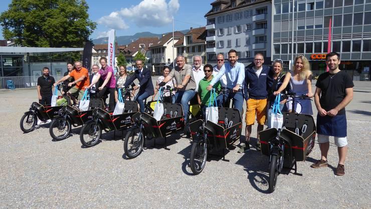 Seit Freitag stehen im Kanton Solothurn Carvelos von carvelo2go zur Verfügugn: 3 in Solothurn, 2 in Grenchen und 2 in Olten.
