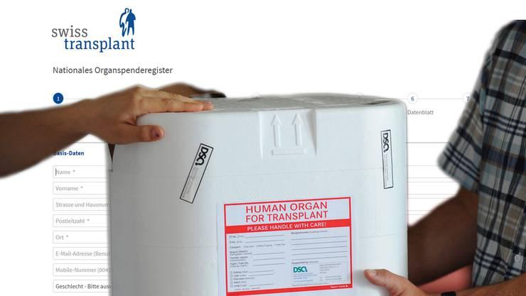 Seit dem 1. Oktober 2018 können alle in der Schweiz wohnhaften Personen über 16 Jahre im neuen Online-Register auf www.organspenderegister.ch festlegen, ob sie ihre Organe im Fall der Fälle spenden oder der Forschung zur Verfügung stellen wollen.