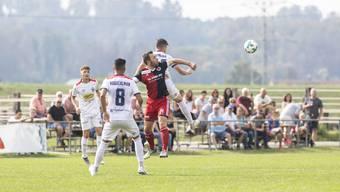 Der FC Klingnau auf seinem Spielfeld im Schweizer Cup gegen Chiasso – der Verein hofft auf ein weiteres Spielfeld im Grie.
