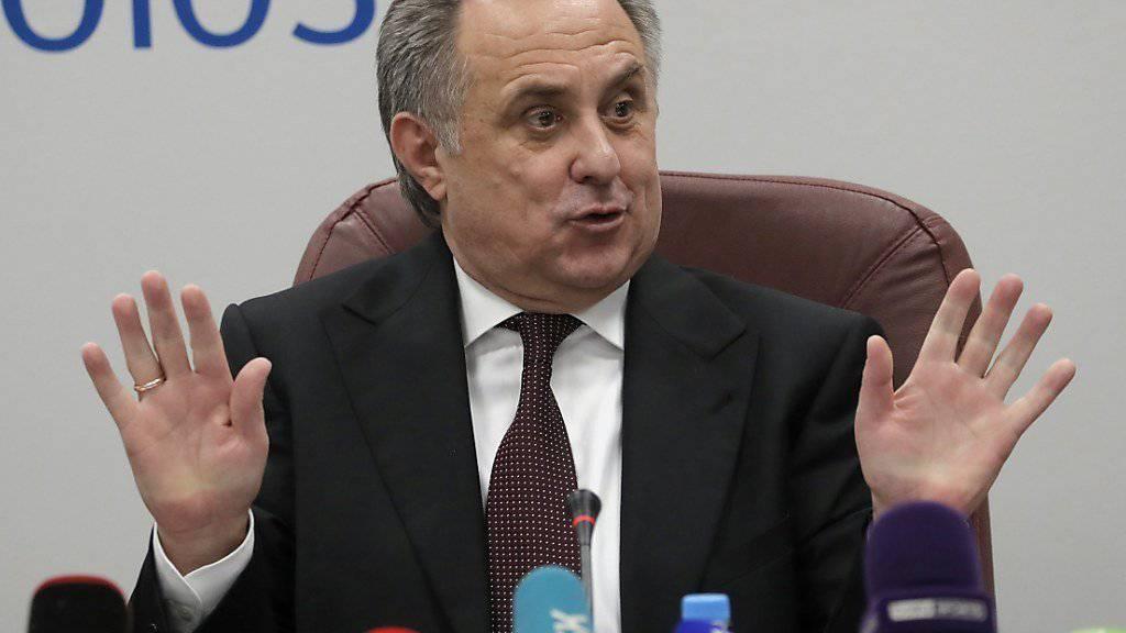 Witali Mutko räumt Doping-Untersuchungen gegen russische Fussballer ein