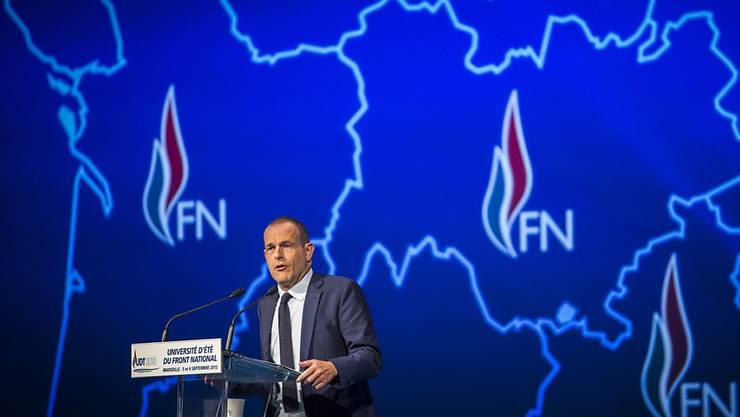 Er wird nun neuer Interimschef des FN: Steeve Briois. (Archiv)